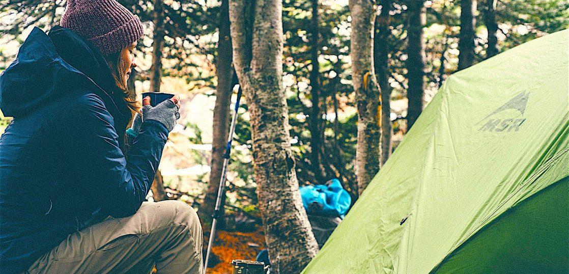 テントで過ごす