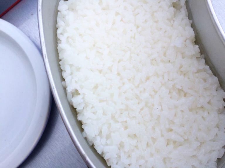 飯盒でご飯を炊いた