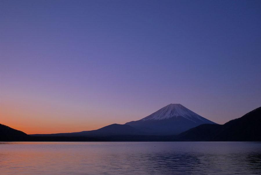 浩庵キャンプ場の富士山